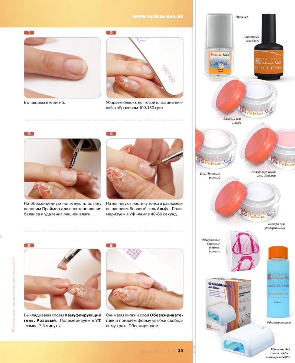 Инструкция наращиванию гелевых ногте